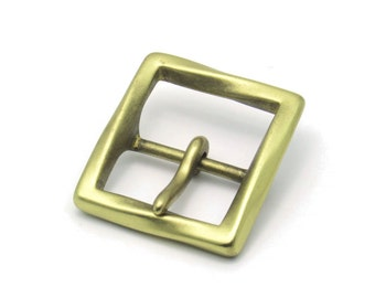 Solid Brass Belt Buckle (34 mm.)