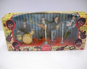 The Beatles Très Très rare Figurine à Gâteau dans sa Boîte Originale 1964-65