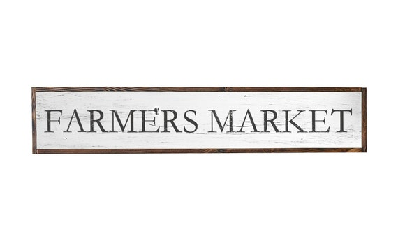 Farmers market sign farm house signs kitchen sign cottage for Decor market reviews
