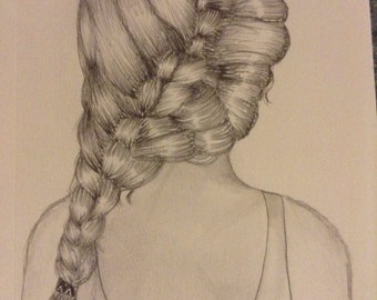Girl with braid.