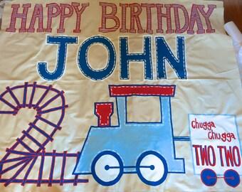 Hand Painted Birthday Banner