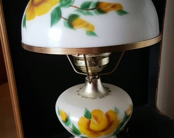 Antique hand painted lamp