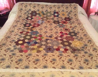 Hand quilted 1800's reproduction lap quilt