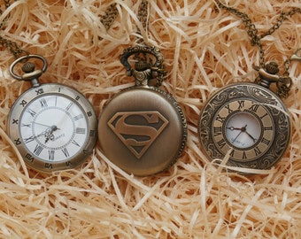 Bronze Pocket Watch Gift Set Collection