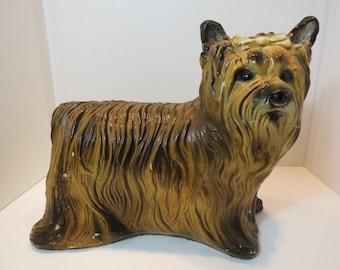 Vintage Ceramic Life Sized Yorkie Statue