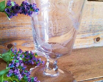 """Spooner with Initial """"W"""" - Early 1900s Crystal"""