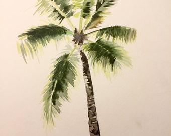 Resting Palm (Original Watercolor)