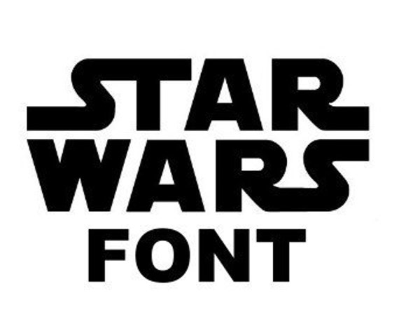 star wars font monogram alphabet decal svg cut files instant. Black Bedroom Furniture Sets. Home Design Ideas