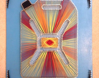 Charity Water String Art - Jerry Can