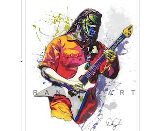 Mick Thomson of Slipknot, 11x14 in, 29x36 cm, Signed Art Print w/ COA