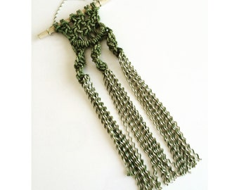 Mini Macrame Olive Green Wall Hanging