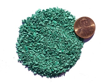 Crushed Malachite Stone Inlay, Medium, 1/2 Ounce