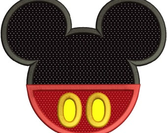 Mickey Mouse Applique Machine Embroidery Design 3 sizes instant download