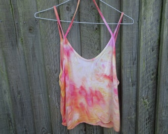 Reworked, Tie dye Brandy Melville top with halter and straps