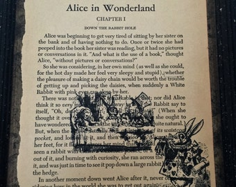 Alice In Wonderland book art