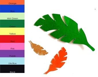 25 pack - Paper Palm Leaf, Palm Leaf Shapes, Paper Palm Tree Leaf, Palm Tree Leaf Shape