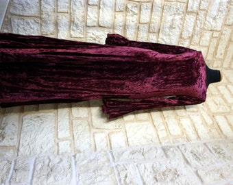 Romance velvet dress GOTHIC of medieval vintage wine red bat sleeve lace medieval sorceress witch Baroque dinner of 90's Gothic vampire