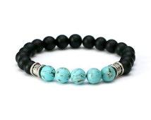 Ocean Castillo Bracelet Mens Womens Bracelet Blue Bracelet Bead Bracelet