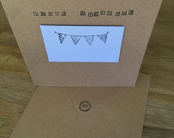 Handmade Bunting Birthday Card
