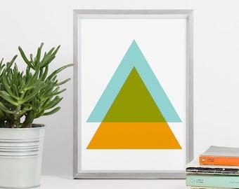 Printable Wall Art - Triangle Geometric