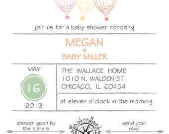 Adventure Themed Baby Shower Invitation