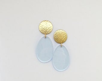 Brass Drop Waterfall Earrings