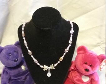 Beaded essential oil charm necklace