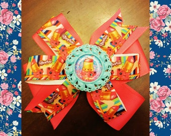 Shopkins pinwheel hairbow