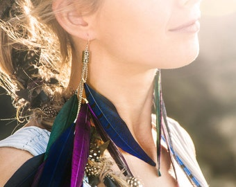 Sunset Feather Earrings