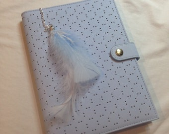 Ice Blue Feather Planner Charm