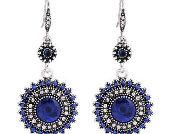 Blue Flower Chandelier Earrings EA6079i