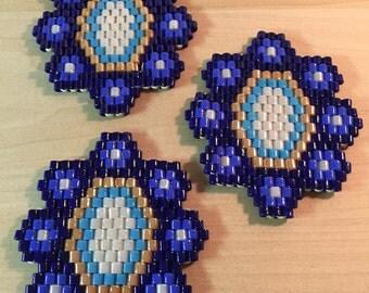 6 Glass Bead Coasters