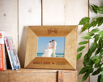 Wooden Picture Frame – Personalised Wedding Gift