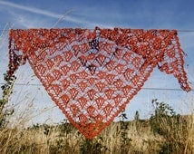 Linen Crochet Scarf
