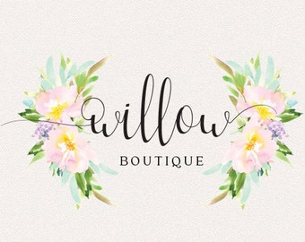Floral Logo | Willow | Logo Design, Graphic Design, Custom Logo, Photography Logo, Logo for Small Business, Boutique Logo