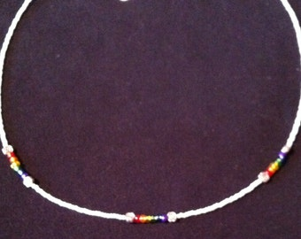 PRIDE Rainbow Flower necklace with