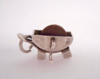 Vintage Charm // Silver Charm // Sterling Silver // Grinder // Silgo // Articulated Movable // Charm // Jewelry // #2187