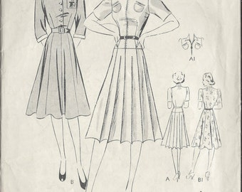 "1940s Vintage Sewing Pattern B35"" DRESS (15)  Butterick  8424"