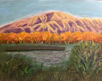 Sunset Sandias and the Rio Grande