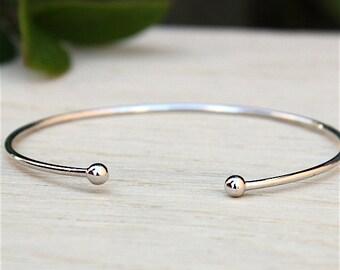 Bracelet ring 925 solid silver balls
