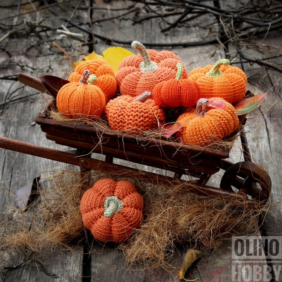 PUMPKINS SET of Crochet Patterns PDF - Crochet Knitted pumpkins patterns Amigurumi pumpkin Crochet vegetables patterns Halloween pumpkins