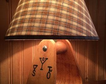 Vintage western cowboy lamp