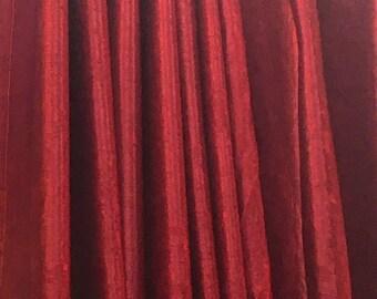 Red velvet curtain   Etsy