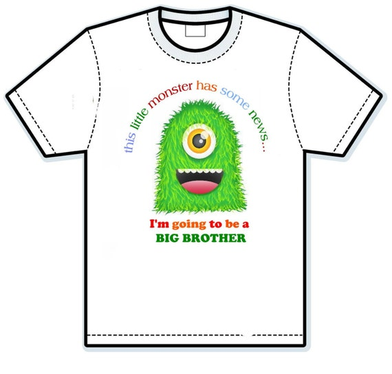 This Monster has some news big brother Children's Shirts
