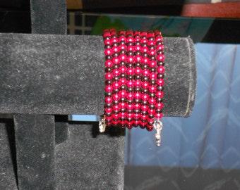 Memory bracelet red and black