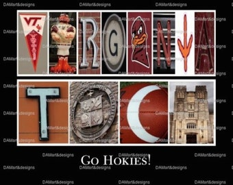 Virginia Tech Hokies Framed Alphabet Photo Art