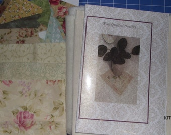 Quilting kit - All fabric and pattern for 2 quilted Doilies (kit 1)