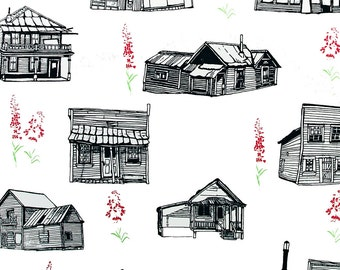 Dawson City Wallpaper Hand Pulled Print
