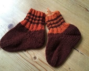 Knitting socks, wool socks, hand knitted, size 20/21