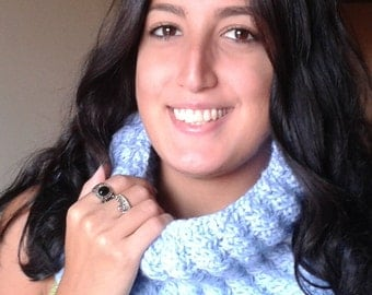 Cowl neck warmer pdf pattern